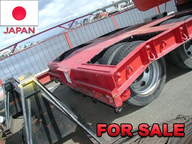 YUSOUKI 21.5 TONS LOW BED TRAILER YT2070D SHIP FROM JAPAN , STOCK SALE