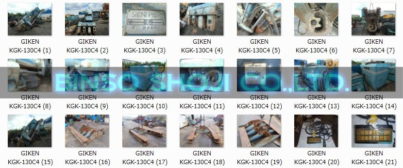 KGK-130C4 SILENT PILER GIKEN SHIP FROM JAPAN , STOCK SALE USED BINSO SHOJI CO.,LTD.